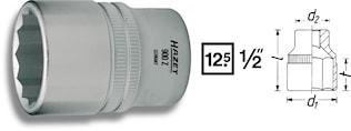 """Hylsa 12 kant 33 mm 1/2"""""""