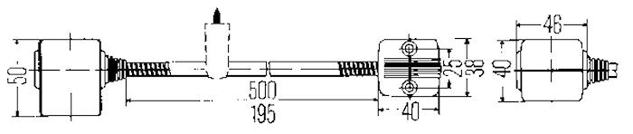 Läslampa 12V 50cm flexibel arm