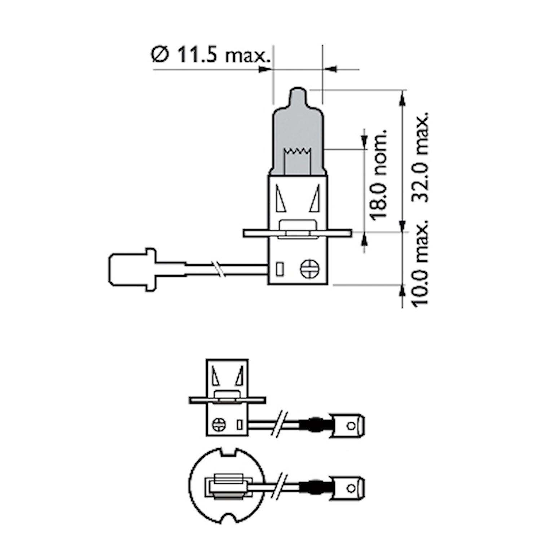 Halogenglödlamp H3 WhiteVision