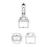 Halogenglödlampa 12V 27W PG13