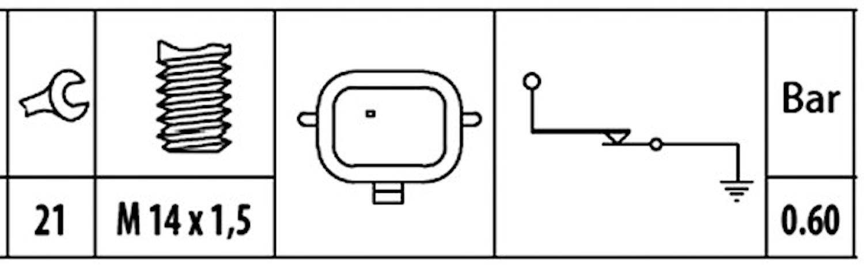 Oljetryckskontakt M14x1,5