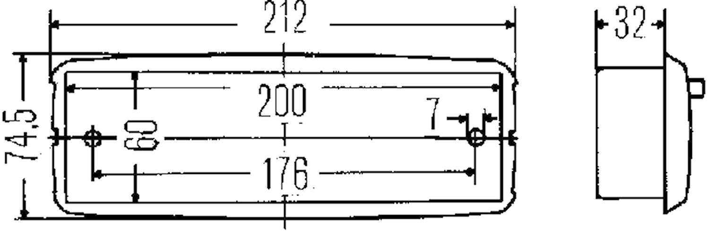 Innerbelysn 212x74,5mm f inbyg