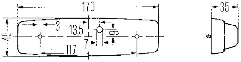 Innerbelysn 170x45mm m strömbr