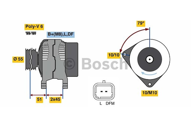Generator utbytes 14V/60A
