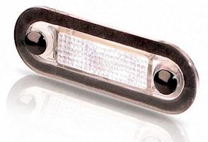 Flushbelysn LED 10-33V klarvit