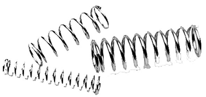 Tryckfjäder 1,5x10x45 mm