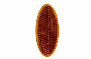 Reflex gul 100x45mm oval lim