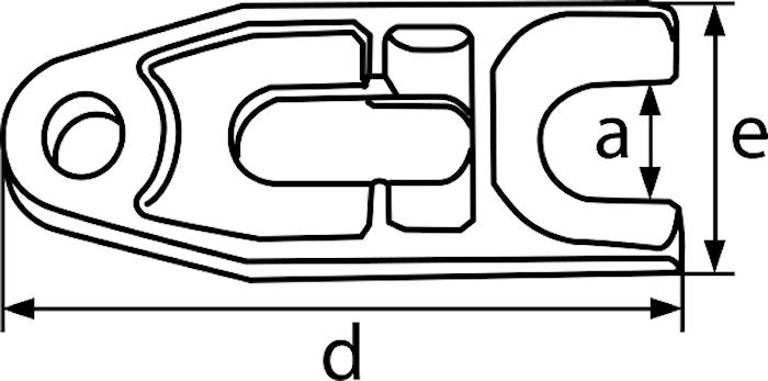 Gaffel 22 mm