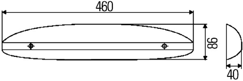 Instegsbelysning 12V 460x86mm