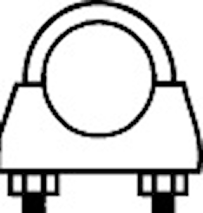 Rörklammer 52 mm M8