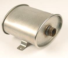 Avgasljuddämpare Ø 38 mm marin