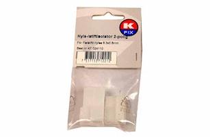 Hyls-/stiftisolator 2-polig