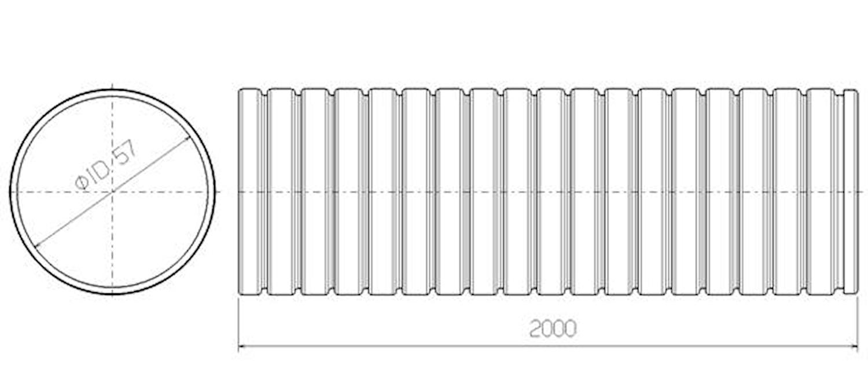 Flexrör 57x2000