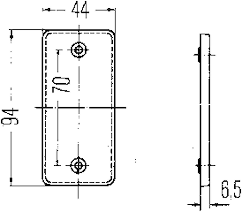 Reflex vit 94x44mm självhäft