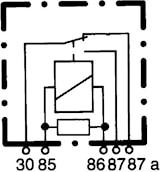 Microrelä 12V 10/20A u fäste