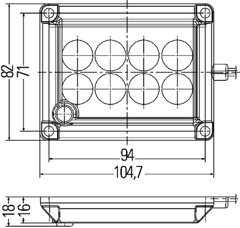 Innerbelysning LED 105x82mm