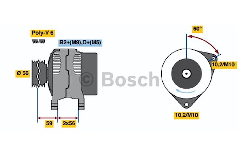 Generator utbytes 14V/140A