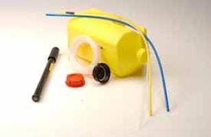 Oljesug pump med behållare