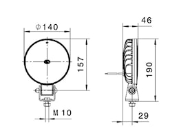 Arbetsstrålkastare AP 1800 LED