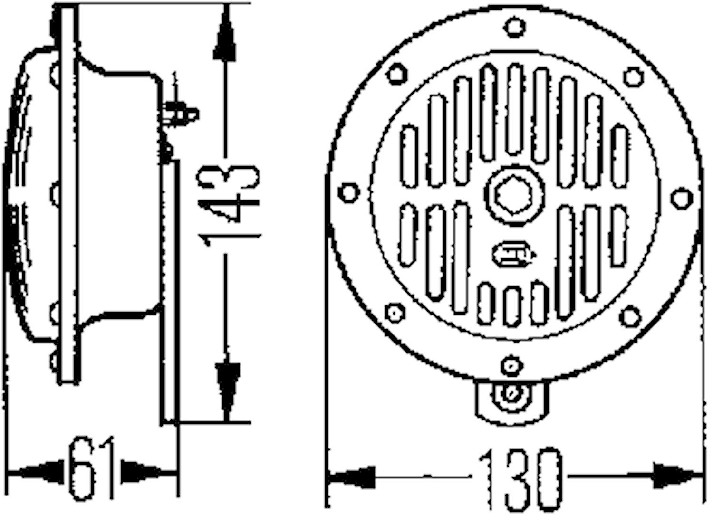 Starktonshorn 12V 310Hz 130mm