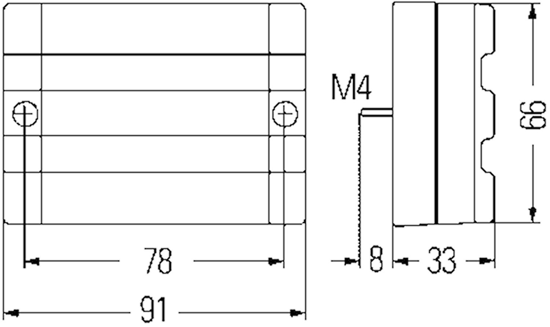 Pos.lykta 24V vit 92x66mm