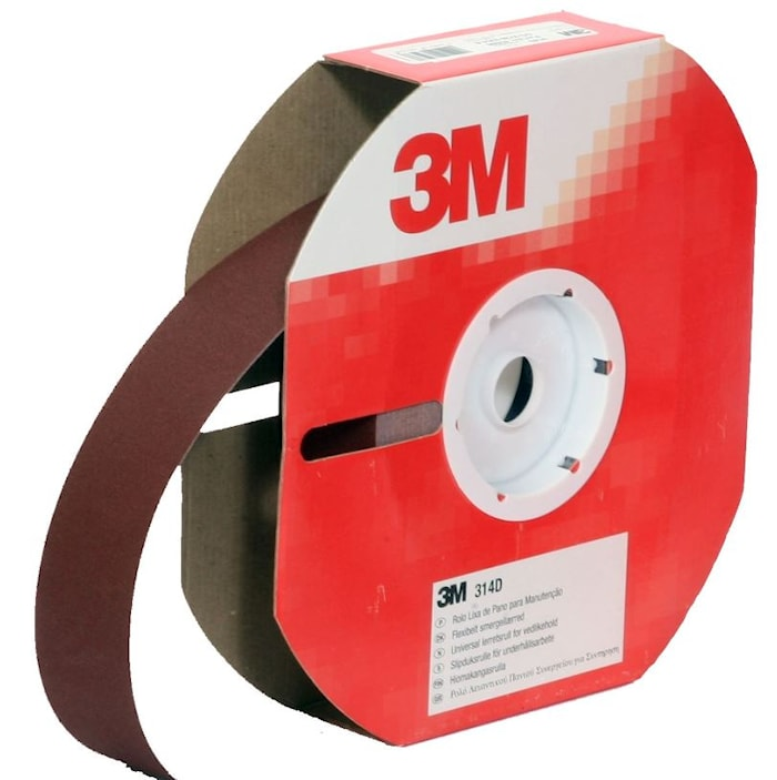 Slipduksrulle 38mm x 25m P60