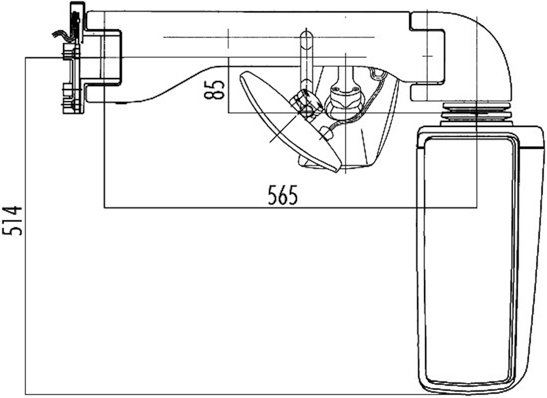 Busspegel hö 24V 375x165mm el