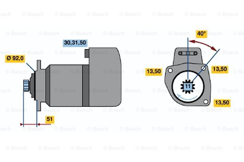 Startmotor utbytes 24V/5,4kW