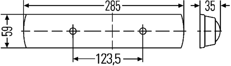 Lysrörsarmatur 12V 9W 285x59mm