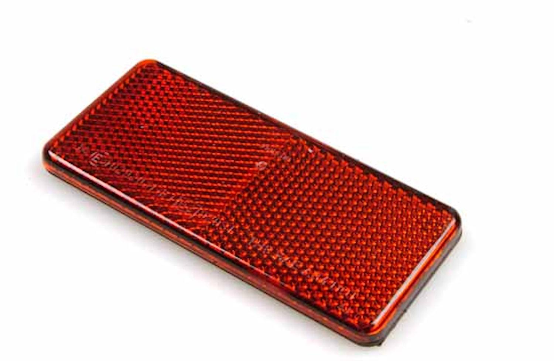 Reflex röd 94x44mm självhäft