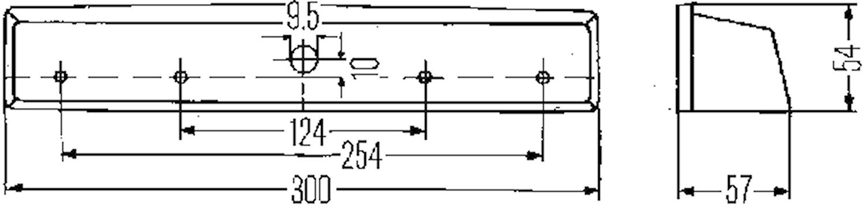 Reg.skyltbelysning 300x54mm