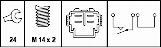 Backljuskontakt M14x2 kontakth