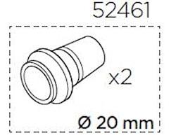 Adaptersats 20 mm axel