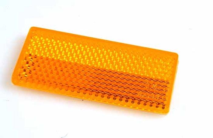 Reflex gul 70x32mm självhäft