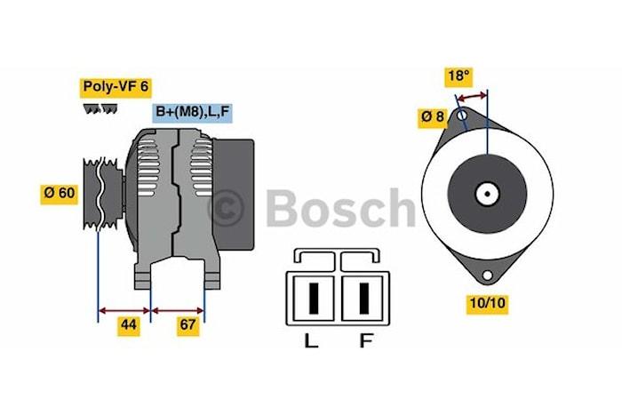 Generator utbytes 14V/100A