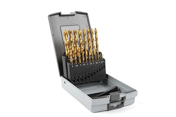 Borrkassett TIN 1-10mm, plast