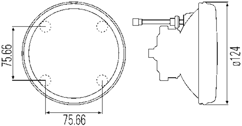 Helljusstrålk 12V H3 120 Ø v/h