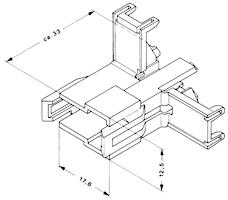 Stiftisolator 2-polig vinklad