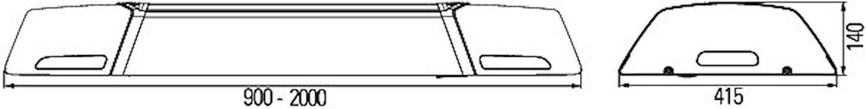 Ljusramp 12V OWS 7 1100mm