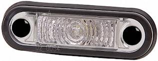 Pos.lykta 10-33V LED vit 79x26