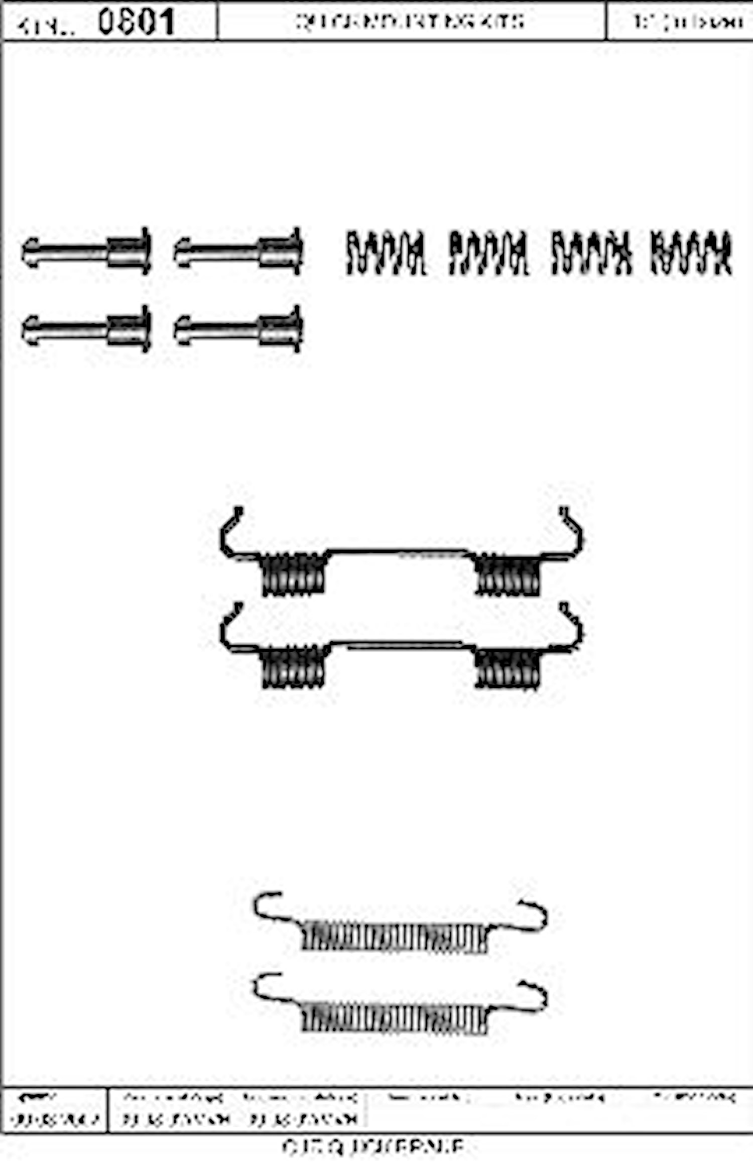 Monteringssats handbromsback