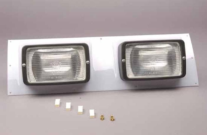 Ljusskiva med 2 arbetsstrålk