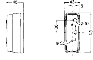 Innerbelysn 113x43mm m strömbr