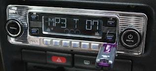 Bilstereo retro USB/AUX/MP3