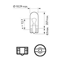 Glödlampa 24V 5W W2,1x9,5d