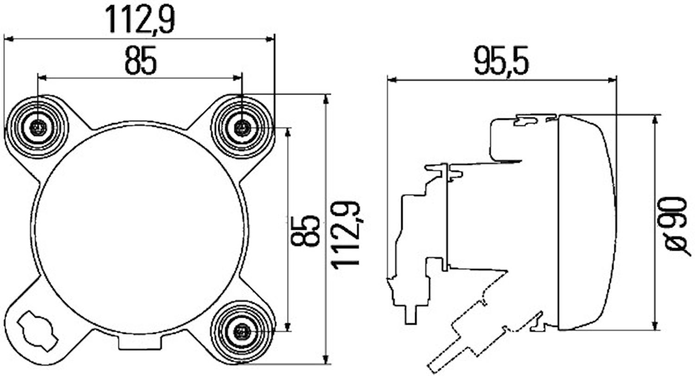 Helljusstrålk 12V FF H1 90mm
