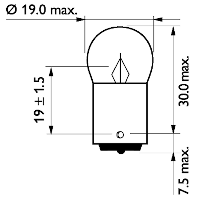 Glödlampa 24V 10W BA15s MD