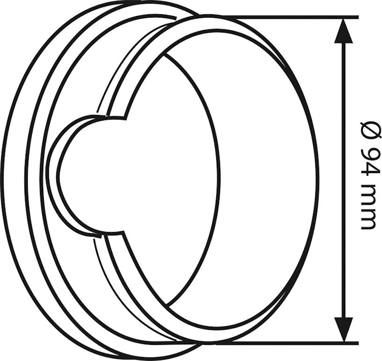 Cylindrisk adapterring