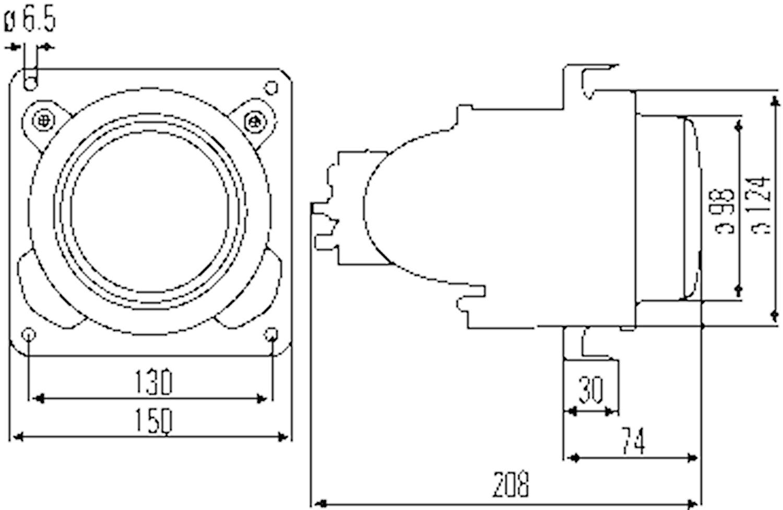 Halvljusstrålk DE H1 98mm Ø