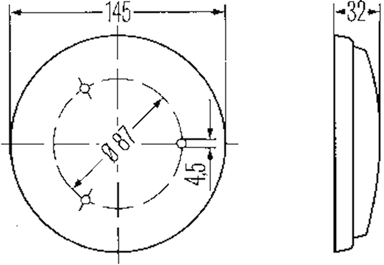 Innerbelysn 145mm Ø m strömbr